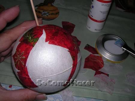 Bolas para rvore de natal - Bolas arbol navidad manualidades ...