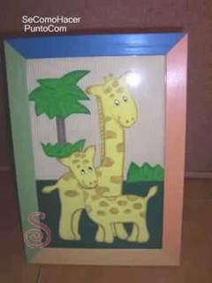 Cuadro de jirafas para niños