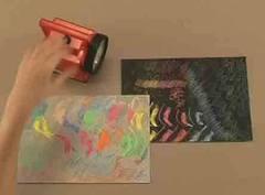 esgrafiar sobre papel