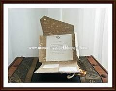 Tarjetas de boda con cartón