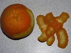 Cáscara de naranja