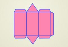 Patrón prisma triangular