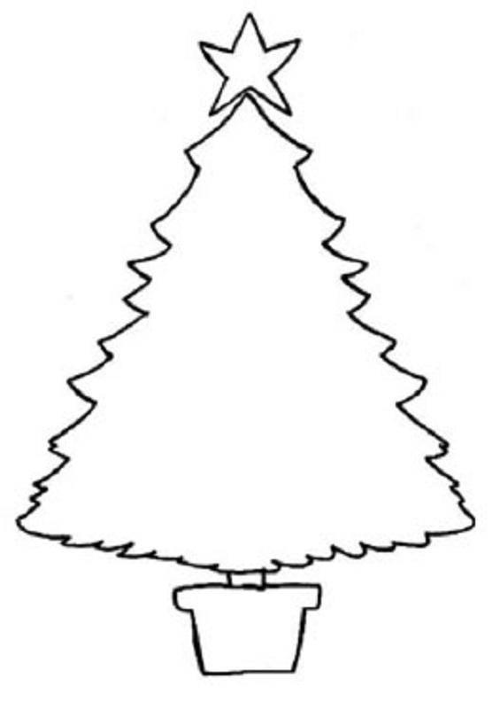 Desenhos de natal para pintar e imprimir for Dibujo arbol navidad