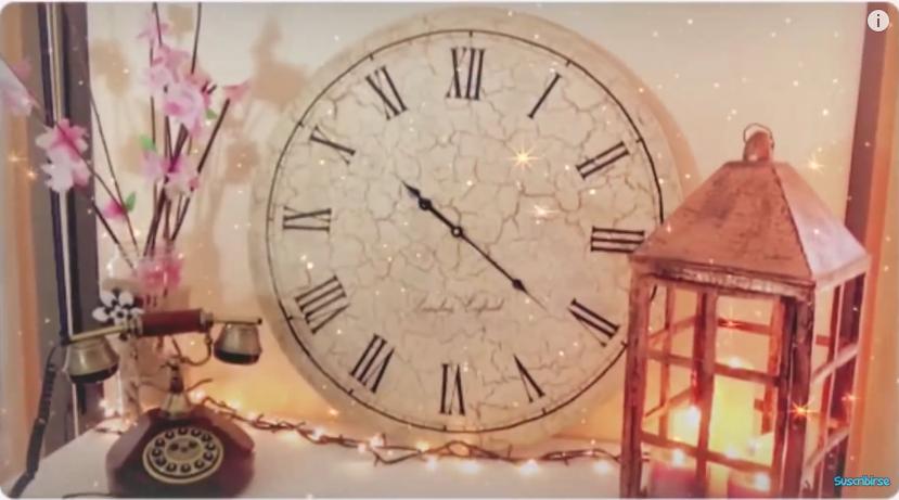 Reciclagem e craquel de papel o tutorial para fazer um rel gio - Relojes para decorar paredes ...